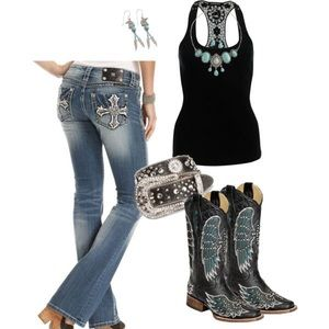 Miss Me sz 28 signature bootcut cross pocket jeans
